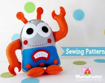 Robot Sewing Pattern, Robot Toy Pattern, PDF Sewing pattern A1132