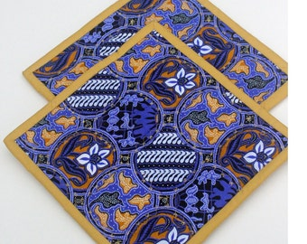 Quilted Pot Holders Purple and Gold Set of Two Bright Kitchen Decor Trivet Candle Mat