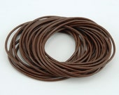 Brown Leather Cord - 5 yards