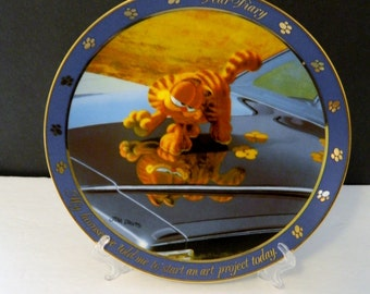 "Garfield Cat Collector Plates Dear Diary Series Danbury Mint ""Art Project""  D5509"