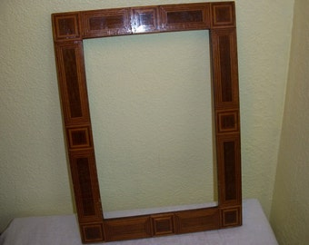 Vintage Beautiful Inlaid Picture Frame Inlay Wood
