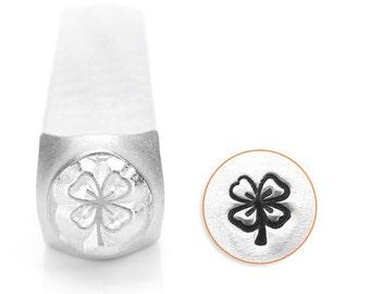 "Metal Stamp-""Four Leaf Clover""  Metal Design Stamp by ImpressArt- 6mm -Metal Stamping Tool-Steel Stamp-Metal Supply Chick"