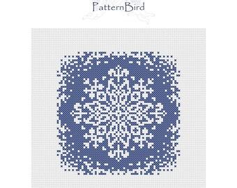 Snowflake. Instant Download PDF Cross Stitch Pattern