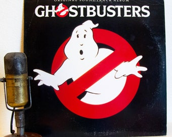 "Ghostbusters Vinyl Record Album 1980s Movie Soundtrack Pop Culture Geekout Bill Murray ""Ghostbusters""(Original 1984 Arista)"