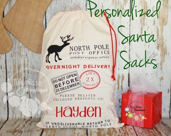 Santa Sack - Personalized  Christmas Gift Bag