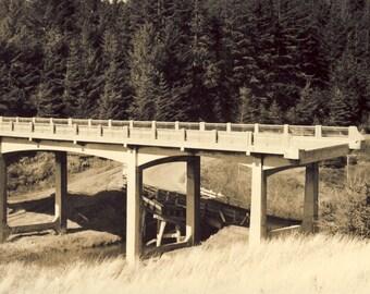 BRIDGE TO NOWHERE Photo of Unfinished Bridge Circa 1940s