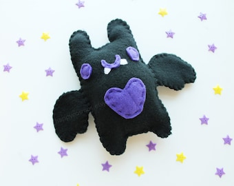 Bat Plush - Cute Softie , Kawaii Plushie, Children's Toy, Decorative Pillow, His and Hers Gift, Halloween Decoration