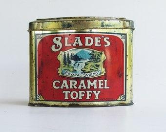 Slade's English Caramel Toffy Tin - Candy Tin