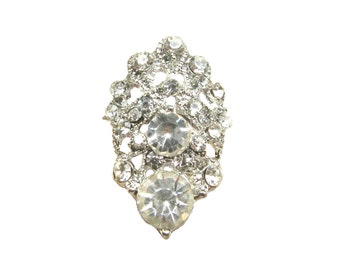 6 Crystal Rhinestone Buttons for Wedding Chain Tiara Chandelier Earring Invitation Card RB-132 (28mm or 1.1inch)