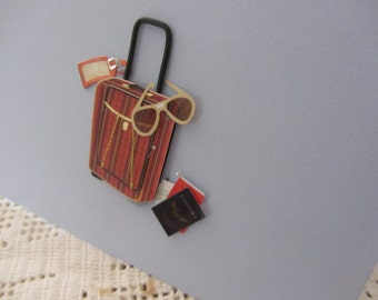 Handmade Bon Voyage Blank Card