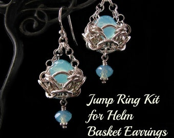 Sterling Silver Jump Ring Kit for Helm Basket Chainmaille Earrings