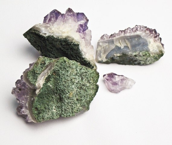 50 off raw purple amethyst crystal clusters druzy geode for Home decor 50 off