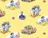 Disney Snow White Yellow Fabric