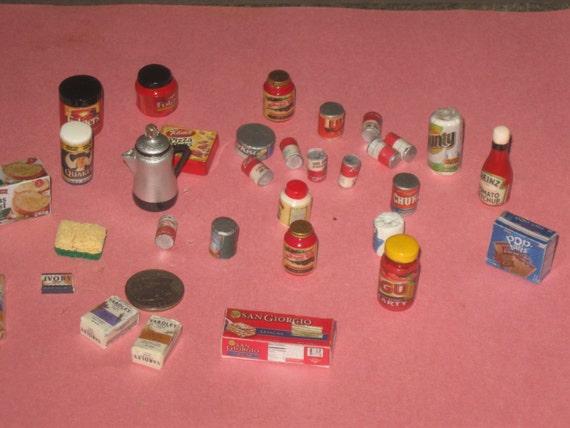 Dollhouse Miniature Handmade Modern GROCERY Set of 30 pieces