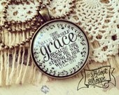 she gave herself grace because she knew He was strong in her weakness (2 Corinthians 12:9) necklace