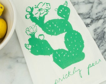 Prickly Pear Cotton Tea Towel