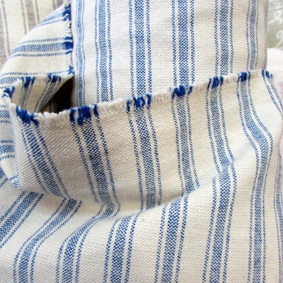 VERY FRENCH Rairoaded Woven color Marine  Stripe Cotton fabric