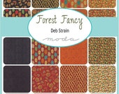 """ON SALE Forest Fancy  Fall Moda Quilt Fabric Charm Pack 42 squares 5""""x 5"""""""