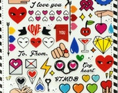 love stickers-scrapbooking stickers-Planner stickers-erin condren planner-heart stickers-craft sticker-2026-Love My Tapes
