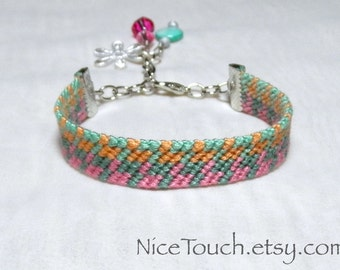 SUMMER SALE!!! Free Shipping or Save 20% ~ Summer Love knotted charm friendship bracelet ~ Ready to Ship