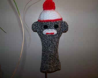 Crochet Sock Monkey Golf Club Cover
