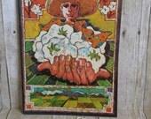 Westways magazine 1970 Russ Smith  batiq cover art agriculture migrant workers Bakersfield California auto car ephemera
