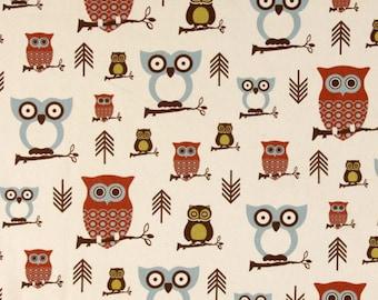 Premier Prints Hooty Owl Village Fabric