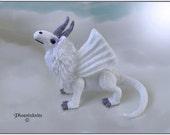 Snow Dragon Knitting Pattern Immediate PDF Download