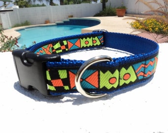 "Sale Dog Collar 1"" wide Quick release buckle adjustable Rad 80's - no martingale style"