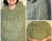 Crochet Pattern Poncho with a cowl