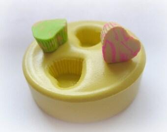 Miniature Heart Cupcake Bottom Mold Fake Food Dollhouse Sweets Kawaii Mould