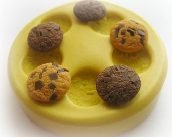 Cookie Mold Miniature Frosting Fake Food Doll House Polymer Clay Resin Mould