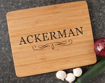 Personalized Wedding Gift, Personalized Cutting Board, Engraved Cutting Boards, Bamboo Cutting Boards, Housewarming Gifts-15 x 12 D8