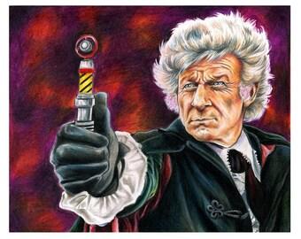 3rd Doctor Jon Pertwee Color Print