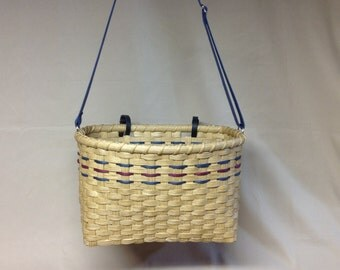 Bicycle Basket, Tote Basket, Hand Woven, Adjustable Shoulder Strap