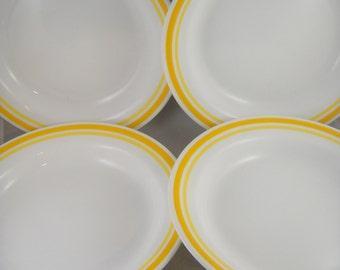 Corelle Citrus Yellow Bands 4 Bowls
