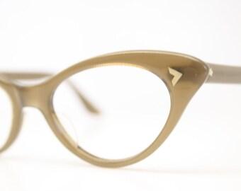 Brown cat eye glasses vintage cateye eyeglasses frames