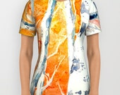 Designer Clothing - Aspen Tree Painting - Artistic All Over Printed T Shirt