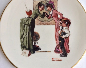 "Norman Rockwell ""Back To School"" Memorial Plate (Gorham 1978)"