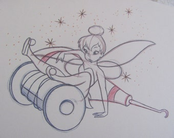 Tinkerbell Sketch Drawing - Walt Disney Collectors Society Collectible Print