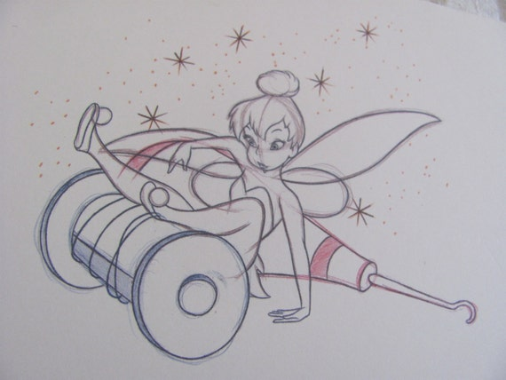 Tinkerbell sketch drawing walt disney collectors society for Disegni a matita disney