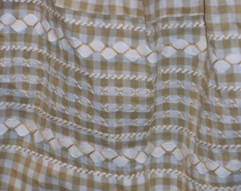 Vintage Gold and White Gingham Apron