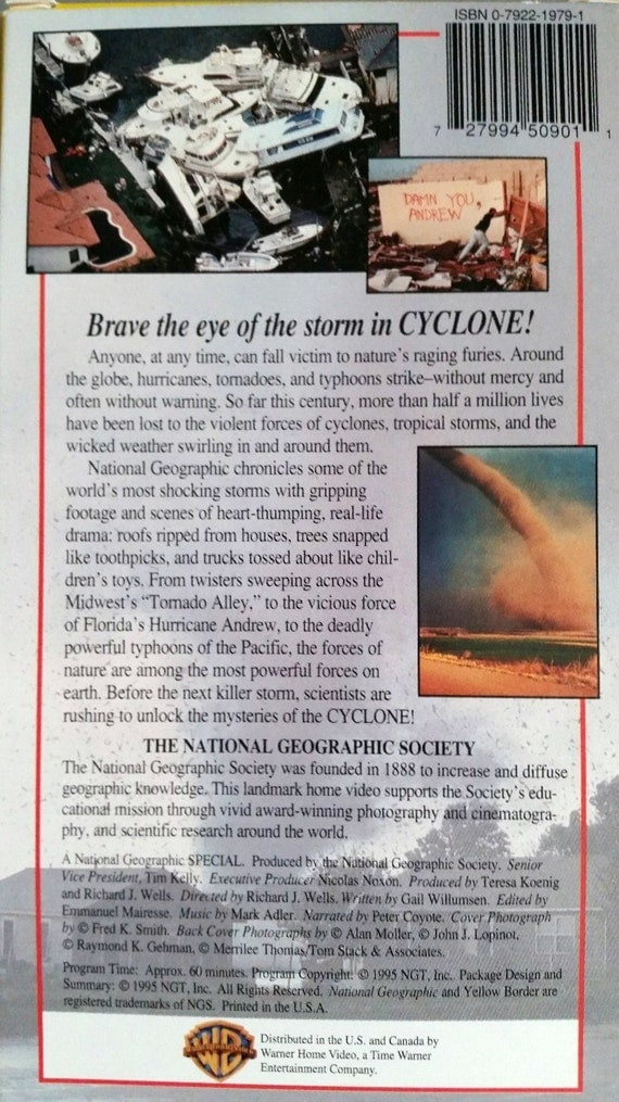 National Geographic Video Cyclone Vhs 1995 By Timelapse On