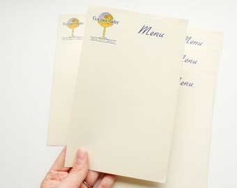 Vintage blank menu card. Gaymer's Cyder ephemera - authentic touch for a vintage party or for adding to a journal or scrapbook.