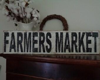 Farmers Market Sign, Rustic Farm Sign, Fixer Upper Sign, 30x7.25