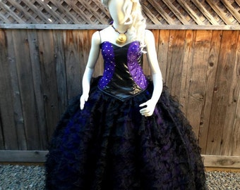 Ursula Sea Witch Couture v.2 Villain Dress Costume Corset Gown Custom Made Adult