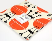 Washcloth or Cloth Wipes with Soft Terrycloth -Set of 2 in Mod Retro Cookin' Outdoors On the Grill BBQ Fabric Michael Miller