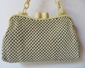 Vintage & Retro Handbags, Purses, Wallets, Bags Vintage 1940sWhiting  Davis Ivory Metal Mesh PurseLucite Frame and HandleWW2 Era Metal Mesh PurseLucite Handle Purse $38.00 AT vintagedancer.com