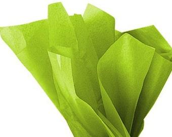 Tissue Paper - 20 Sheets Premium CITRUS GREEN