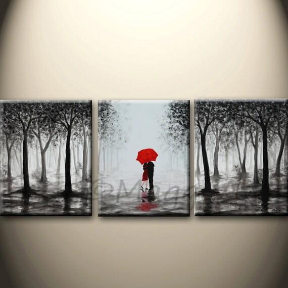 grande peinture abstraite art de mur acrylique originale. Black Bedroom Furniture Sets. Home Design Ideas